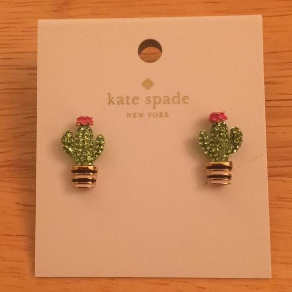 Kate Spade Jewelry Scenic Route Cactus Earrings Poshmark
